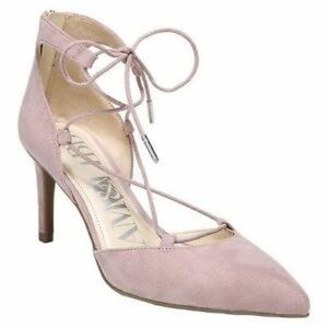 SAM & LIBBY pink Omni Ghillie lace up heels 9 M